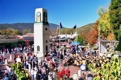 Clock tower on Gala Day