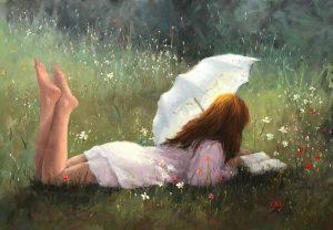 Di King-Splendour in the grass-oil